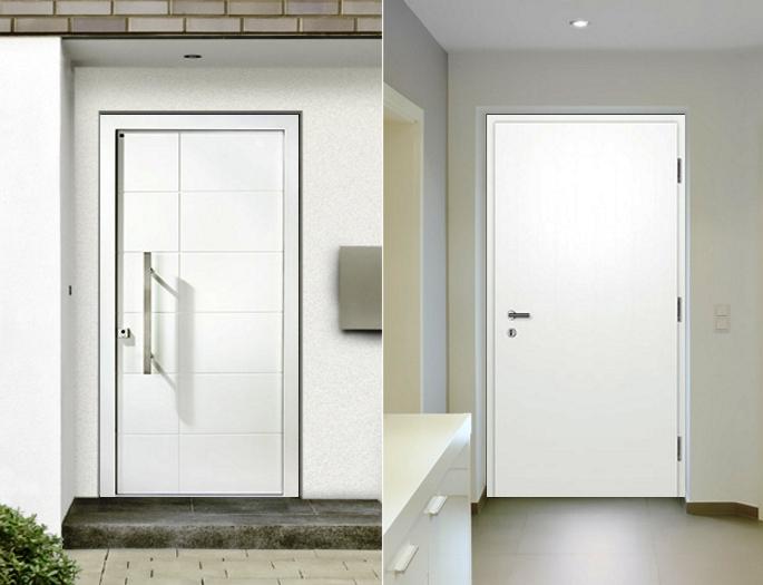 Дерево-алюминиевые двери